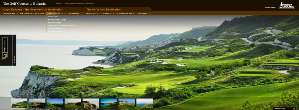 Golf Courses in Bulgaria - Website